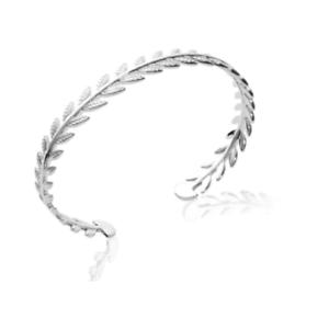 Bracelet,Jonc,Feuilles,Laurier,Argent,Massif,925,1000,