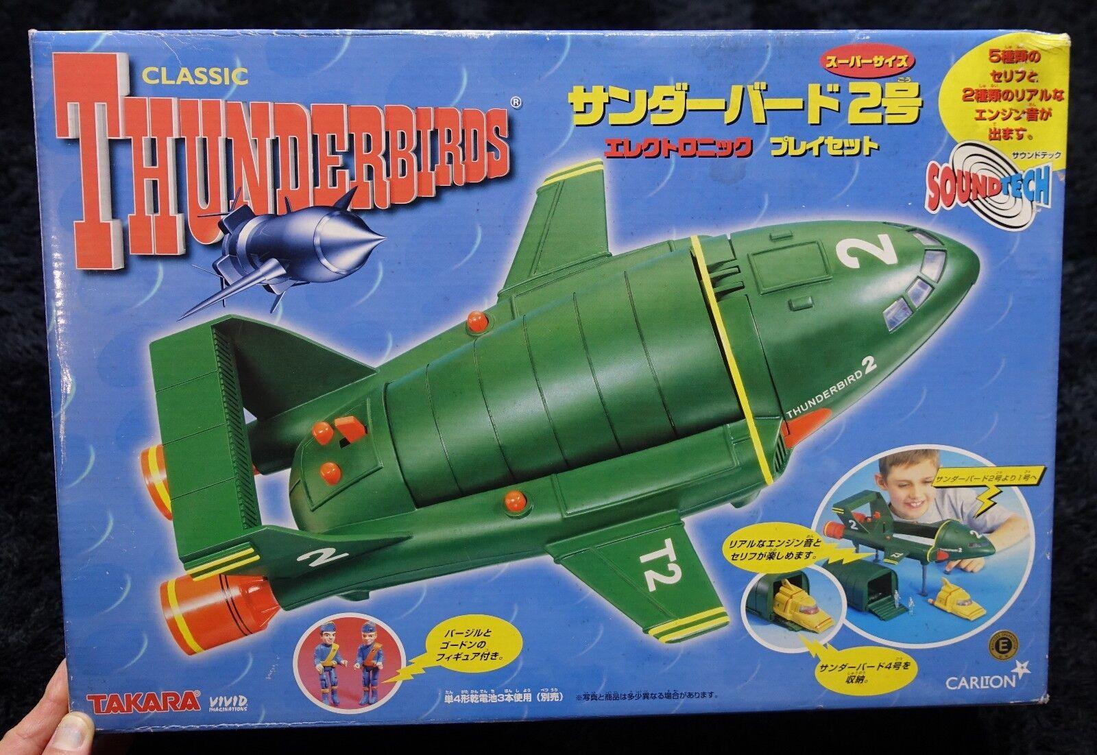 THUNDERBIRDS TB-2 SOUND TECH  PLAY SET VIVIID / TAKARA BIG TOY SPACE 1999 UFO