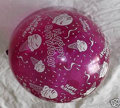 "Ice Cream Print Latex Balloons, 11"" Qualatex Happy Birthday Party Decor 10p Lot"