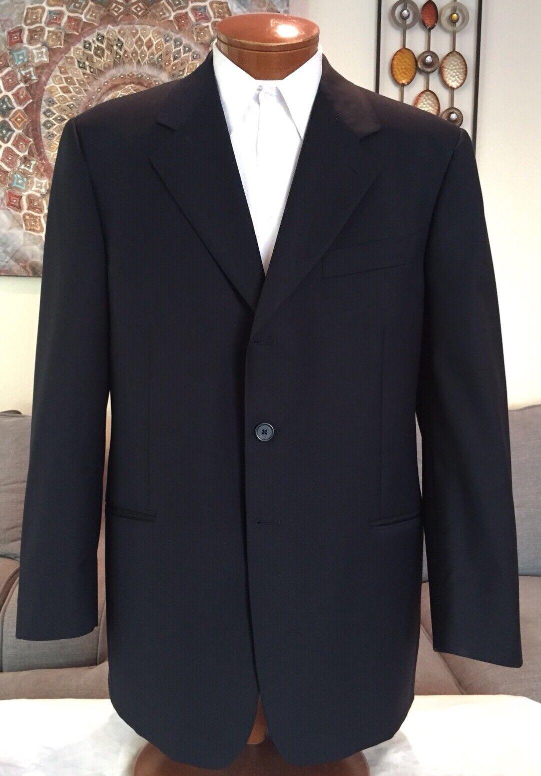 Stunning Gianfranco Ferre  Herren Blau Dual Vent 3 Btn Suit Sz 44 R MINT