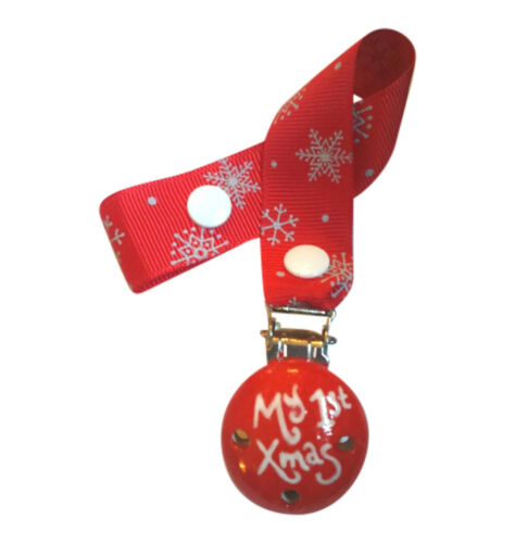 my first Xmas Cutetoots wooden dummy clip//soother holder