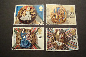 GB-1974-Commemorative-Stamps-Christmas-Fine-Used-Set-ex-fdc-UK-Seller