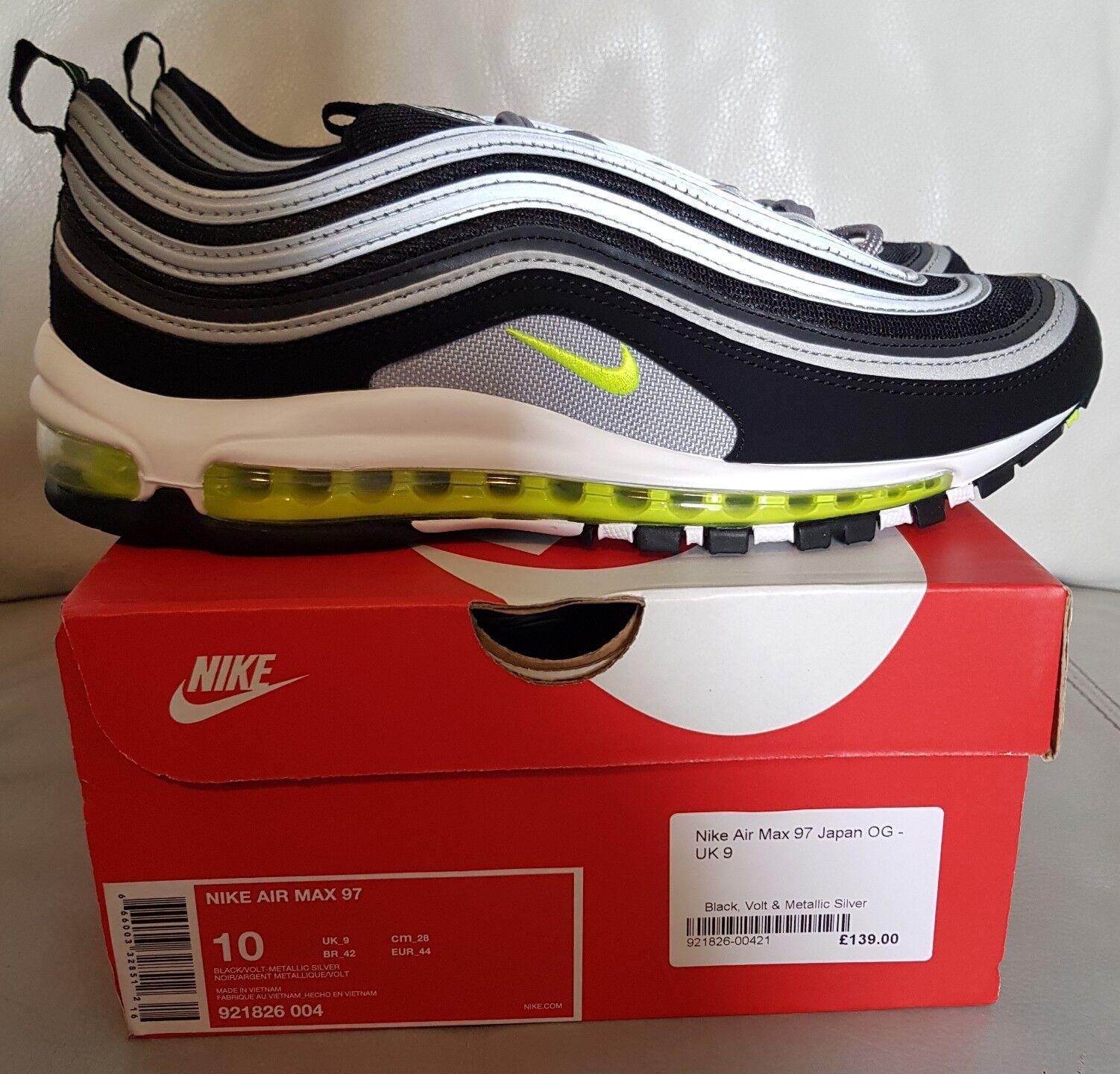 Nike Air Max 97 Retro OG Japan EU noir Volt Neon9 US 10 EU Japan 44 921826 004 e7ebe1