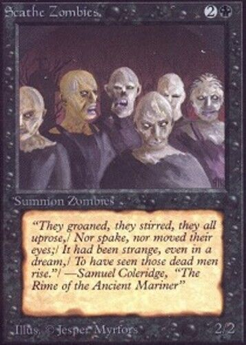 4x Scathe Zombies MTG Unlimited NM Magic Regular