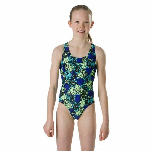 Speedo ManekiMeow Allover Splashback Girls Swimsuit