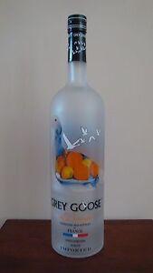 Grey Goose L'Orange 1.75 Liter Factory Dummy Display Glass Bottle
