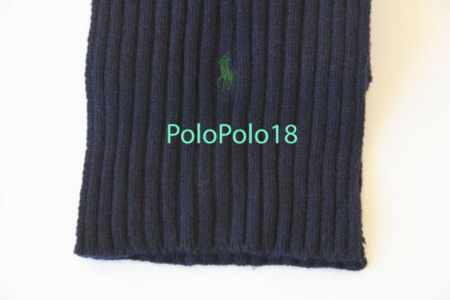 New Polo Ralph Lauren Pony Wool Blend Knit Scarf