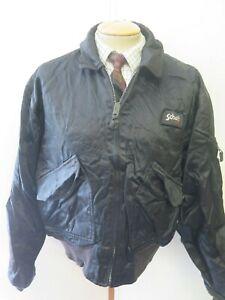 Detalles de Genuine Schott Nyc Hollofil CWU R Vuelo Bomber Jacket XL 46 48 euro 56 58 Negro ver título original