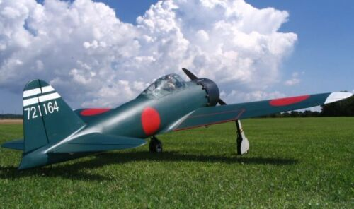 Giant A6M Zero 91inch WS scratch build R//c Plane Plans /& Patterns