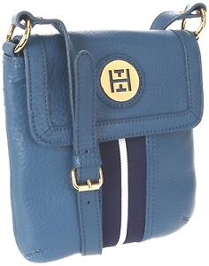 a2b63fca23 TOMMY HILFIGER- Leather Handbag, Cross body Bag- Blue/White/navy-New ...