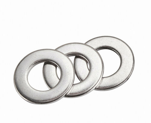 DIN 125 Unterlegscheiben Beilagscheiben U-Scheiben Verzinkt Stahl M2//2.5//3//4//5//6