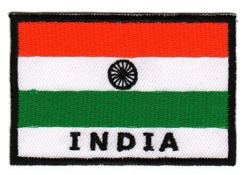 Bb76 Bandiera India India Biker ricamate STAFFA immagine Patch applicazione tonaca DIY