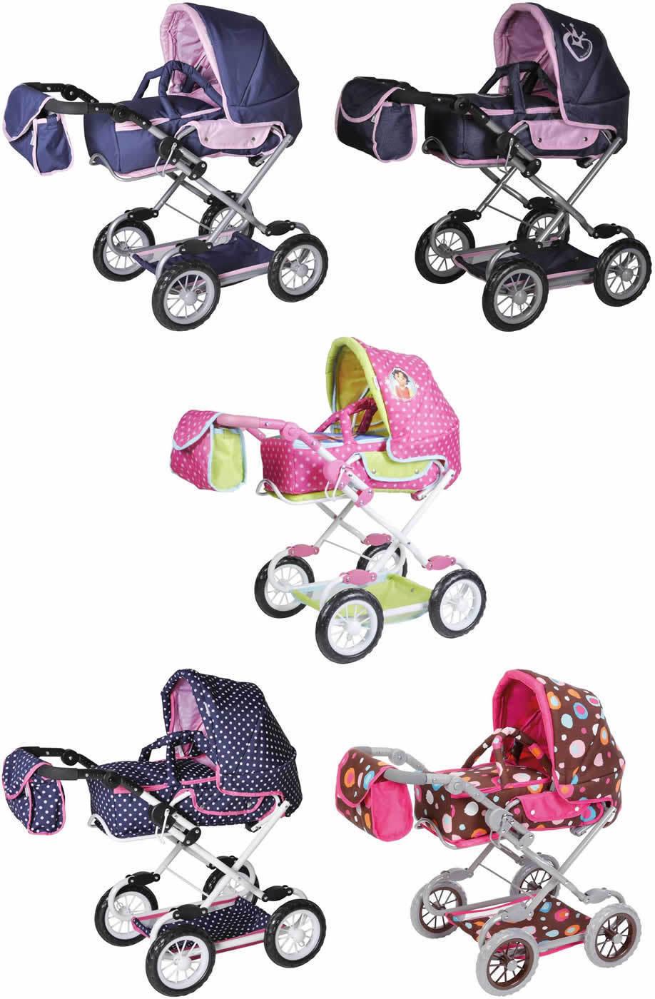 KNORRTOYS salsa bambole combinata carrello auto sportiva con borsa fasciatoio e borsa per il trasporto