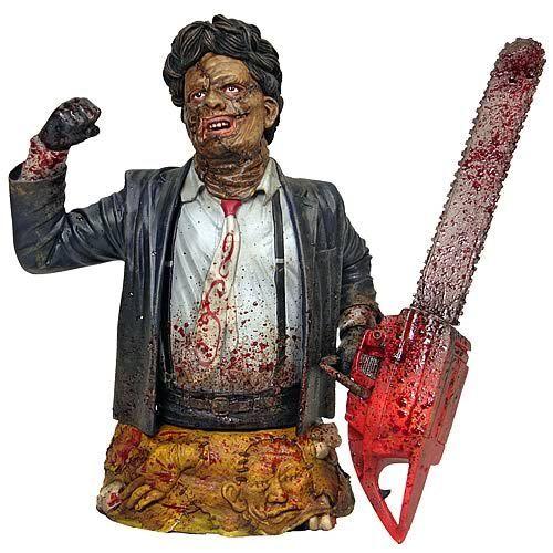GentleGiant Texas Chainsaw Massacre läderface skräckstaty zombie bysten figuren