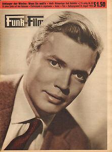 FUNK-UND-FILM-1955-nr-32-KARLHEINZ-BOHM-RUDI-HOFSTETTER-LOTHAR-OLIAS