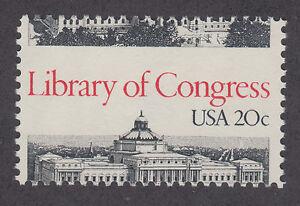 US-Sc-2004-MNH-1982-20c-Library-of-Congress-MISPERF-ERROR