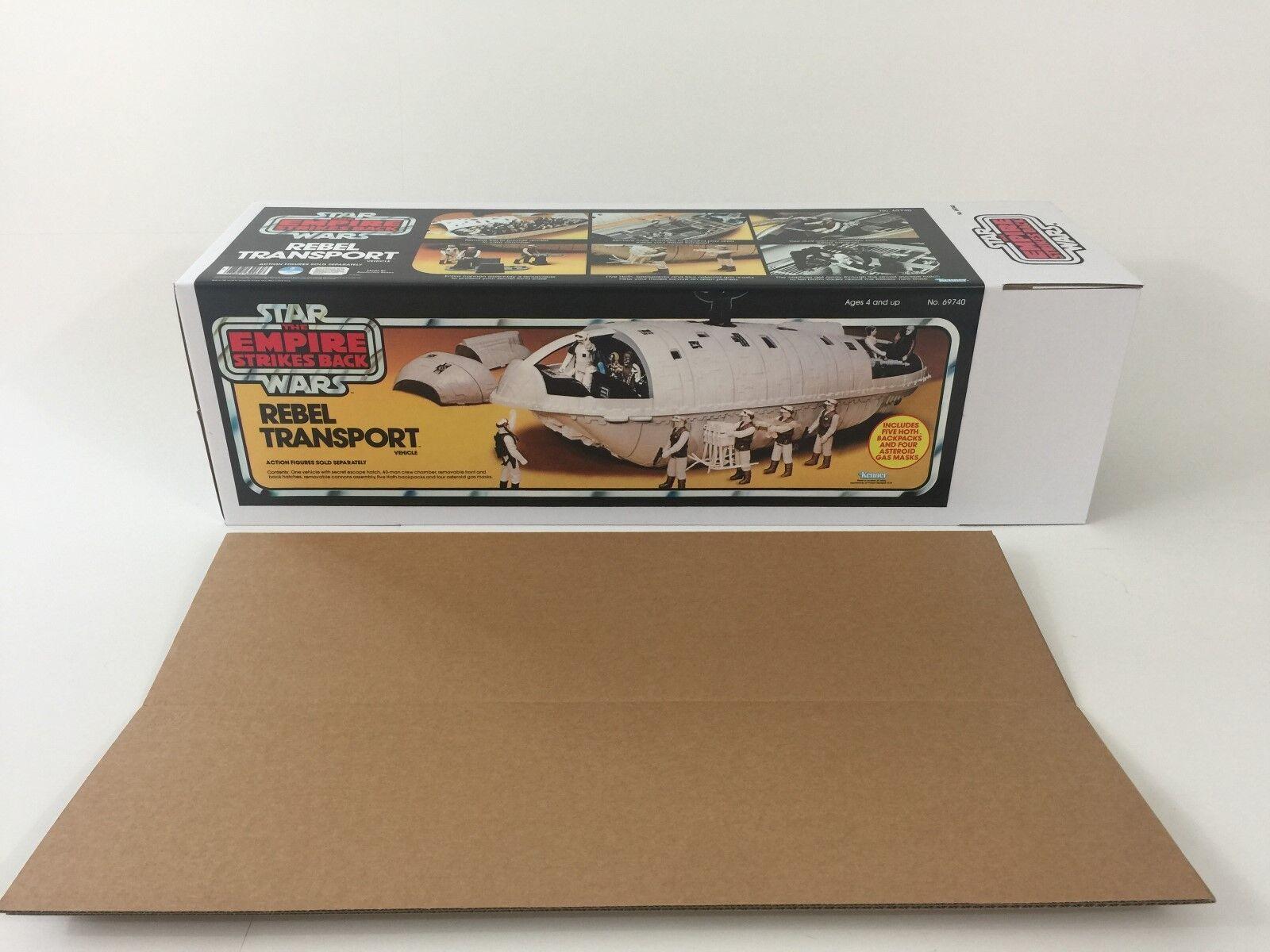 Sostituzione Vintage Star Wars Box Trasporto Ribelle ESB e inserti giallo versione