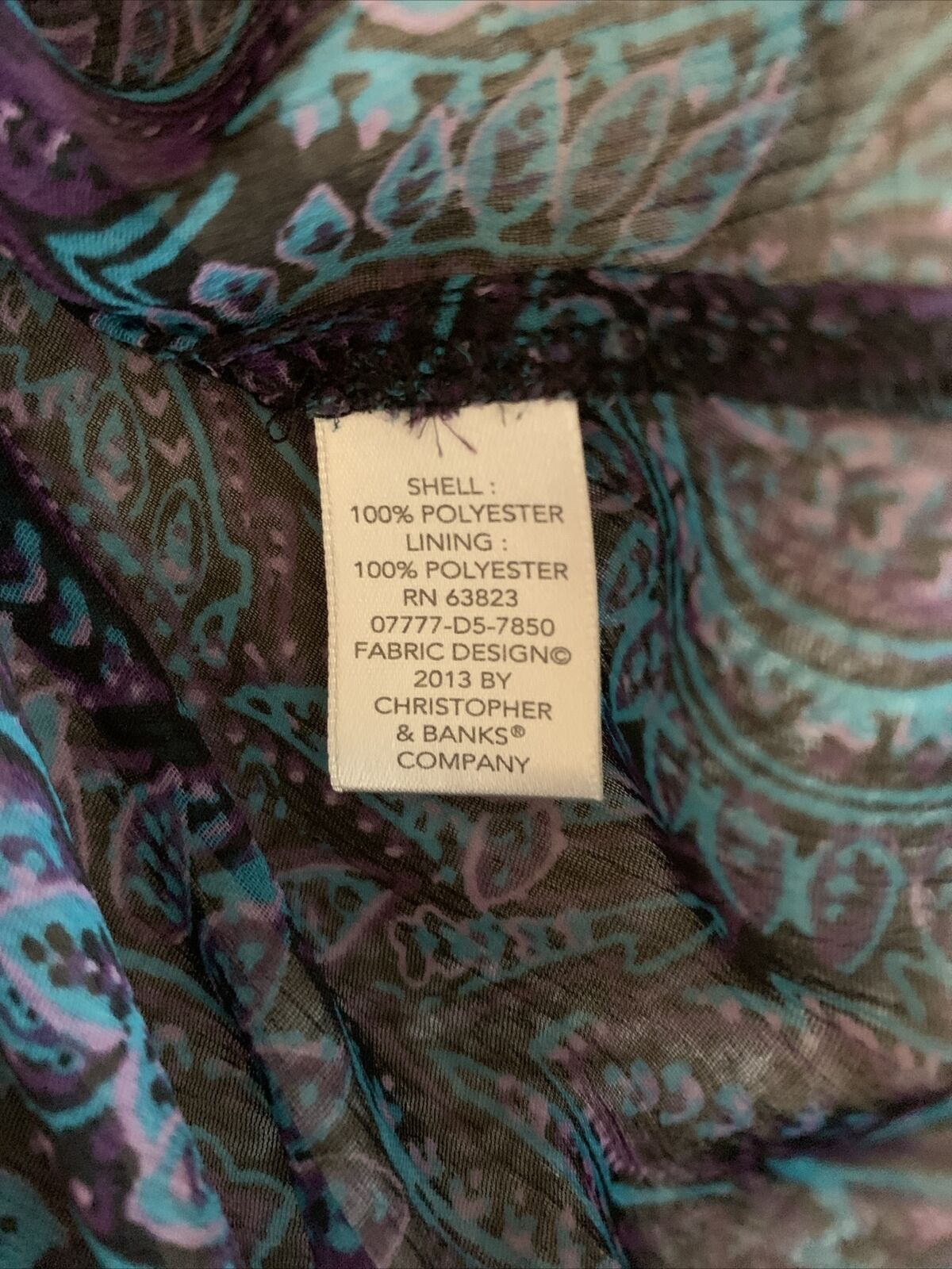 Christopher and banks women's blue paisley blouse… - image 8