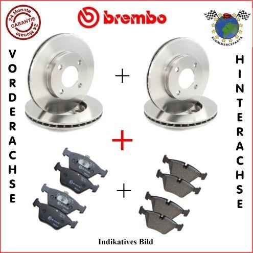 Kit Bremsscheiben und Bremsbeläge vorne hinten Brembo BMW 3 E30 320 318 31 d29