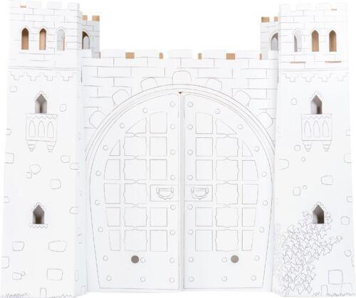 92 x 73 x 76 cm Pappburg zum Basteln Spielhaus Burg aus Bastelkarton ca Basteln & Kreativität