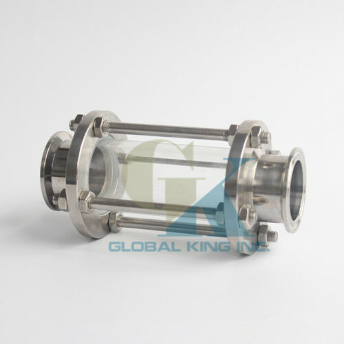 """2/"""" Flow Sanitary Sight Glass Tri Clamp Stainless Steel 316"""