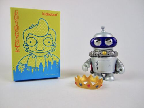 Kidrobot Futurama Universe X Super King Bender Vinyl Mini-Figure Rarity 2//24