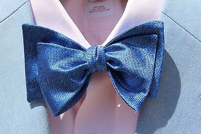 Bow Tie Club Gentleman's Royal Blue Adjustable Self-Tie 100% Silk Bow Tie - USA!