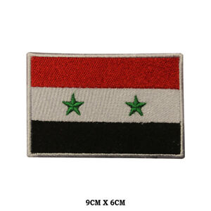 SYRIA National Flag Embroidered Patch Iron on Sew On Badge For Clothes etc