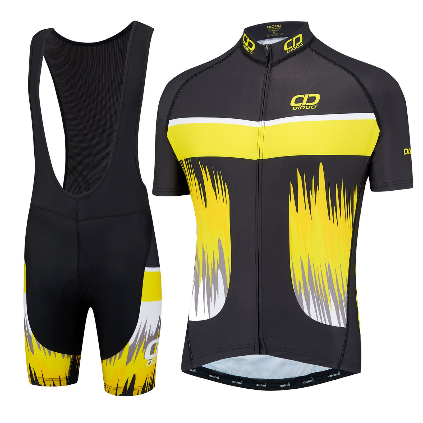 Didoo Half Sleeve Cycling Jersey and Breathable Padded Bib Short Set Team Racing