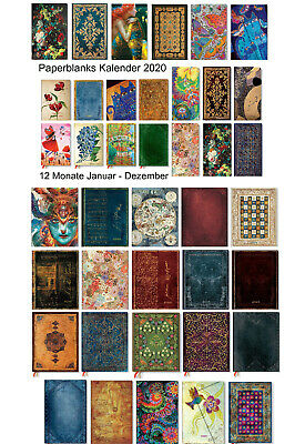 Paperblanks Kalender 12 Monate 2019 Schmetterlinge MAXI 13 x 21 cm VERTIKAL