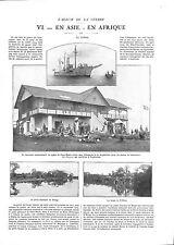 WWI Africa Bethmann Hollweg Congo Coco-Beach Deutsches Heer Bonga ILLUSTRATION