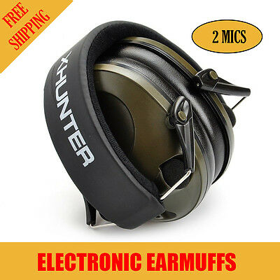 Howard Foldable Shooting Hunting Electronic Earmuffs W// Input Jack EarMuffs
