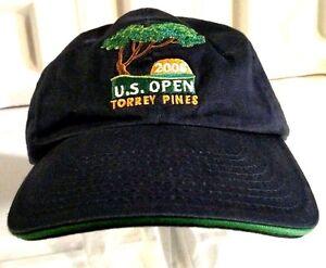 2008 US OPEN TORREY PINES GOLF Hat Navy Blue Green Vintage USGA ... ba247c41c464