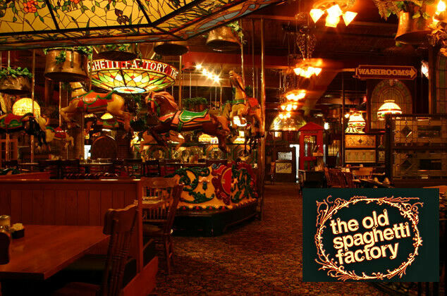 The Old Spaghetti Factory Restaurants in Canada - $25 Dining Gift Certificate