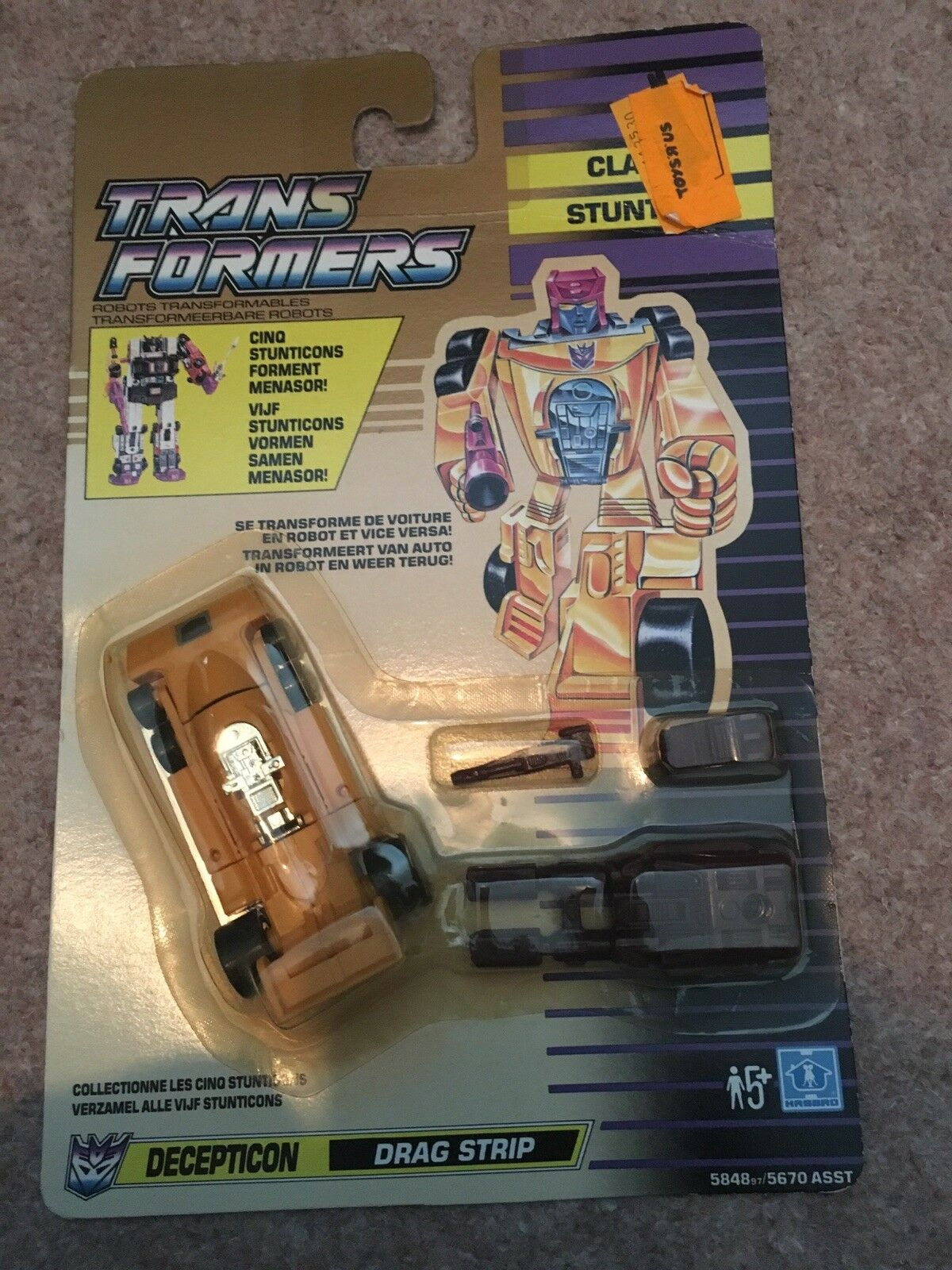 Transformers Classic Drag Strip Decepticon Retro Figure 1991 French Dutch
