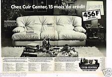Publicité advertising 1983 (2 pages) Canapé Cuir Center