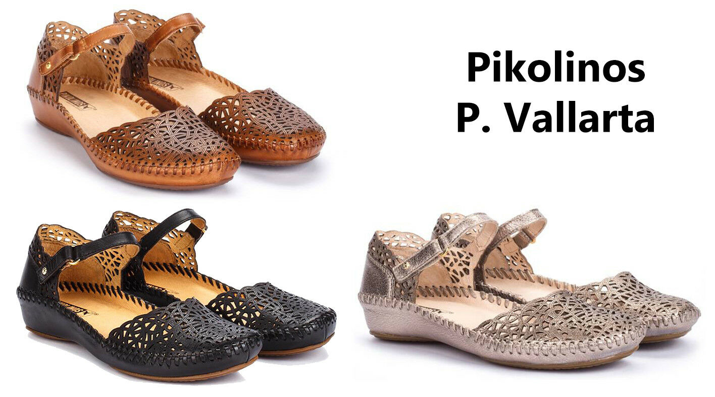 Pikolinos Puerto Vallarta Donna Sandals Mary Jane Leather Shoes NEW