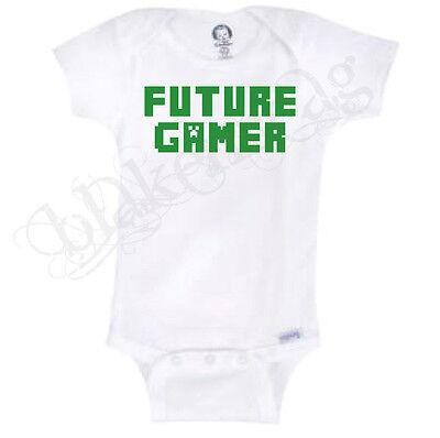 Future Gamer  Funny Novelty Baby Onesie Boy Girl Clothes Bodysuit Blakenreag