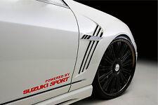 Powered by SUZUKI Sport Racing Decal sticker emblem logo RED Pair