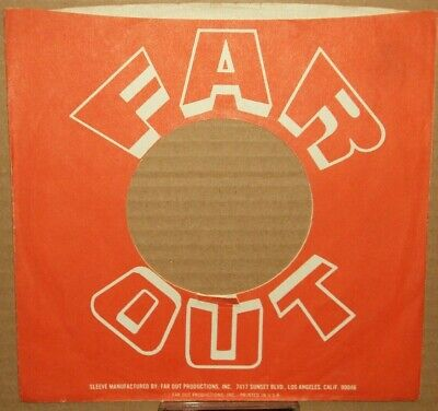 """""""far Out"""",""""company Sleeve"""",""""original"""",""""45rpm"""",7inch"""",""""record"""",""""vintage"""",} Music ;0>"""