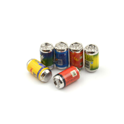 6x Mini 1//6 Scale Dollhouse Miniature Coke Drinks Model Pretend Play Doll Toy Ec