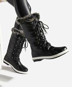 Shoedazzle Black Christene Faux Fur Boots Women 6.5 M