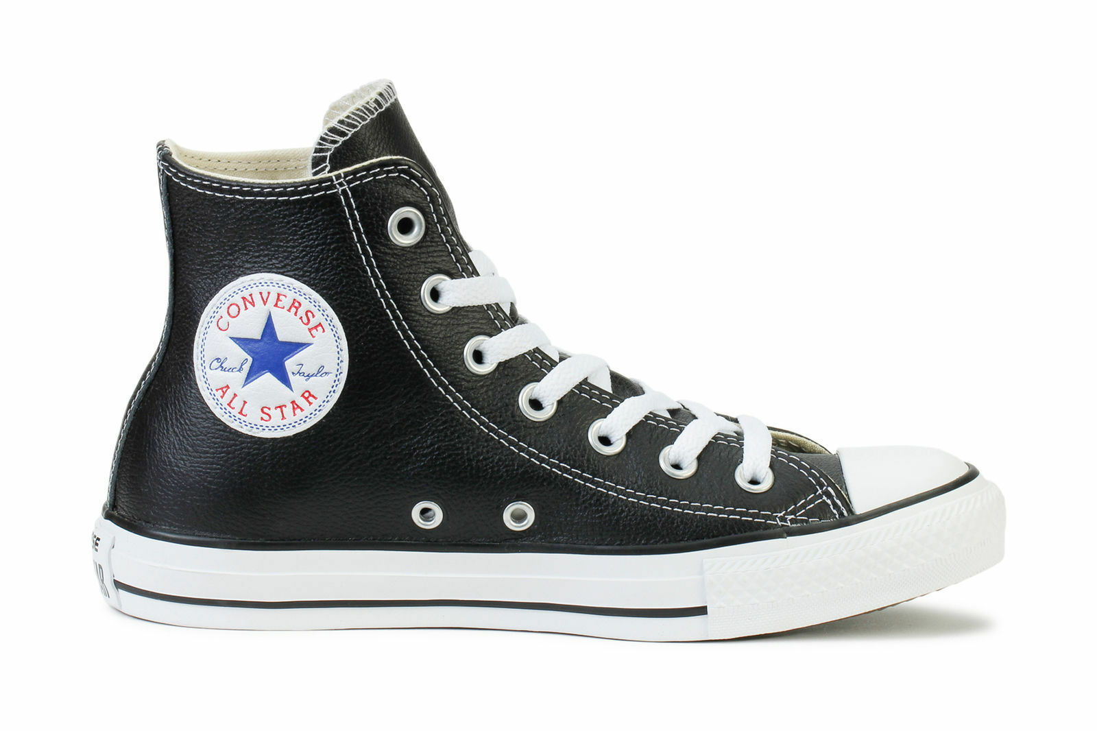 Converse BlackLeather All Star Chuck Hi BlackLeather Converse 132170C Men Shoes e4d17c
