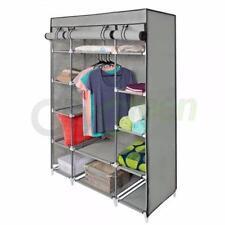 Portable Wardrobe Clothes Armoire Closet Storage Rack Shelves Bedroom 133x46x170