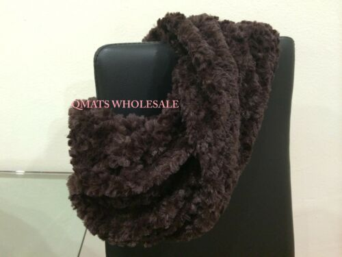 FASHION Faux Fur Loop Circle Infinity Fuzzy Scarf Neck Warmer WINTER GIFT XMAS