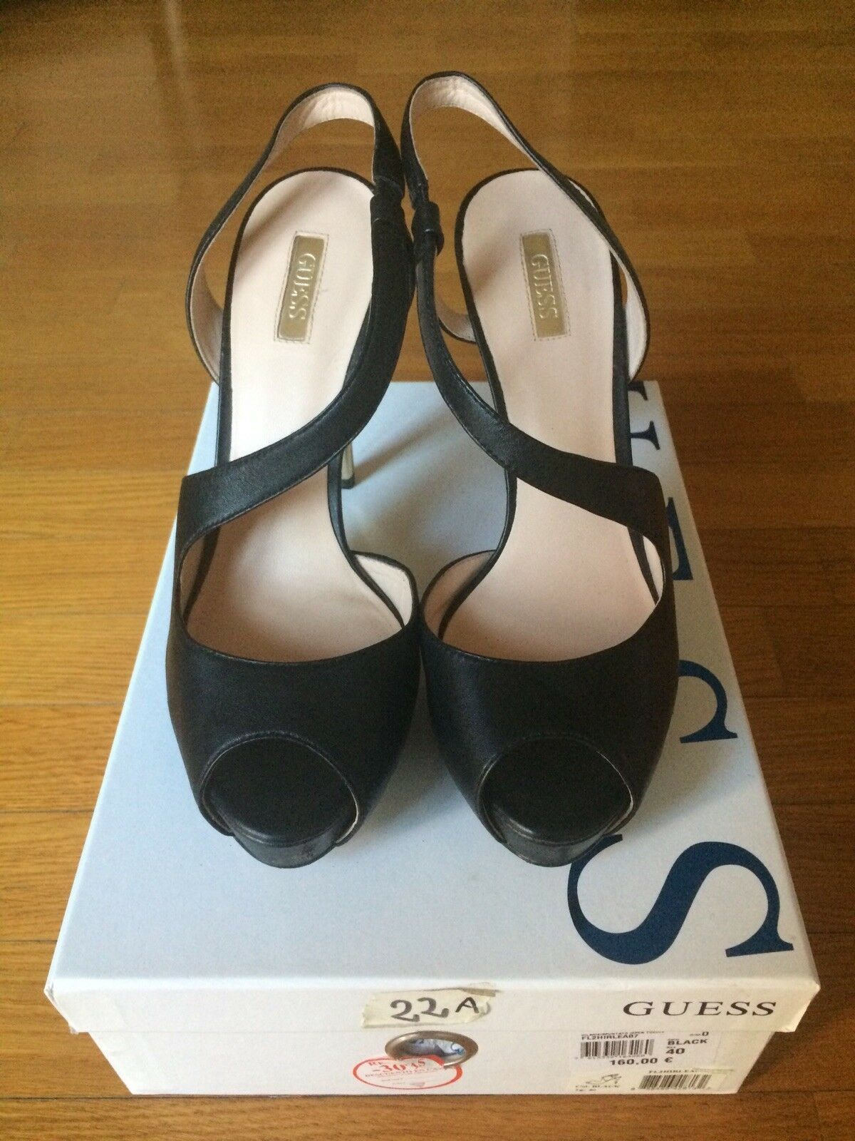 Descuento barato Scarpe donna in vera pelle colore nero firmate Gues mod. sandalo elegante mis.40