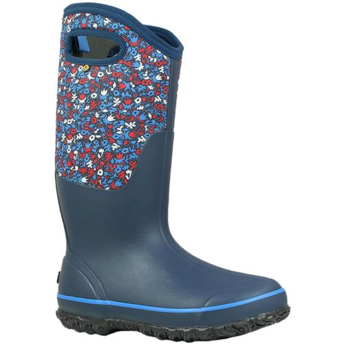 Ladies BOGS Classic Tall Freckle Blue Waterproof Insulated Boots Wellies 72427