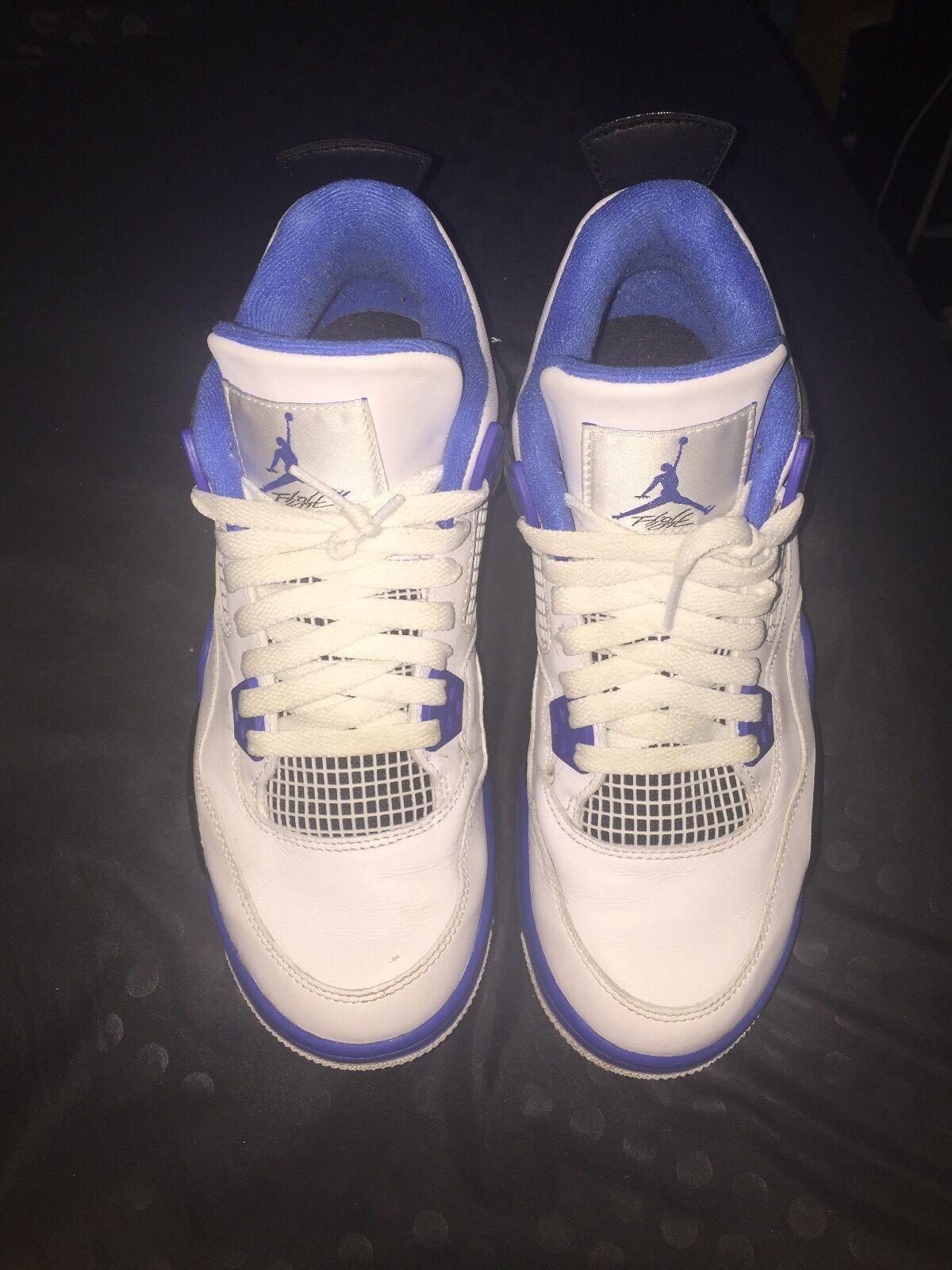 Blue Jordan Retro 4 Boy Size 7