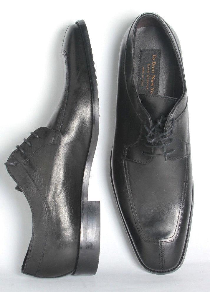 Para Hombre Zapatos to bota New York negro Adam Derrick Split Toe Oxfords Us