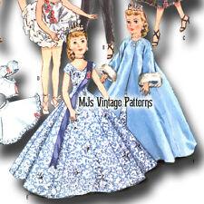 "Vtg Doll Clothes Pattern Ballerina ~ 10.5"" Little Miss Revlon Cissette Jill Toni"